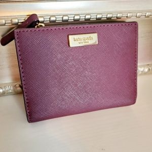 Kate Spade Small Shawn Laurel Way Plum Wallet